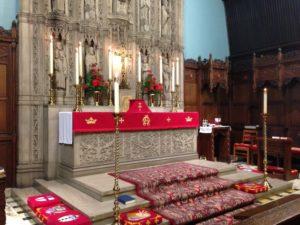 Palm Sunday altar at St. John's Episcopal Church in Sharon.