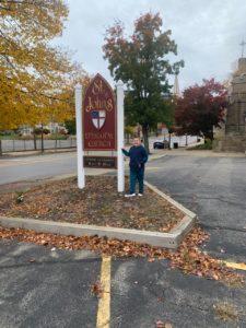fall scavenger hunt st john's sign