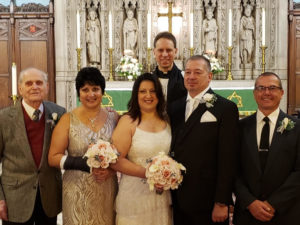 Wedding at St. John's Episcopal Church in Sharon